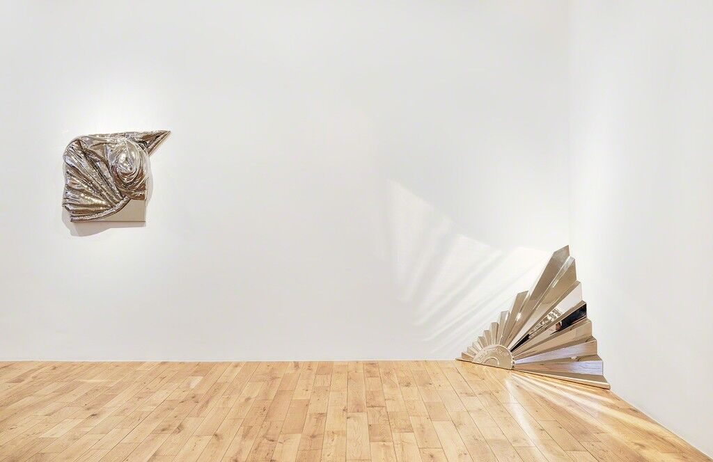 """Installation view of """"Steel Life Crisis,"""" courtesy of Almine Rech Gallery"""