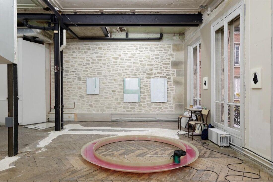 Installation view of Gregor Staiger at Paris Internationale, 2015.Photo byAurélien Mole,courtesy ofParis Internationale.