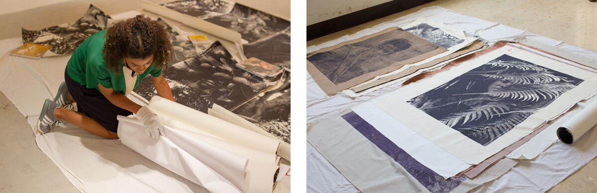 Zohra Opoku at work. Photos courtesy of Gallery 1957.
