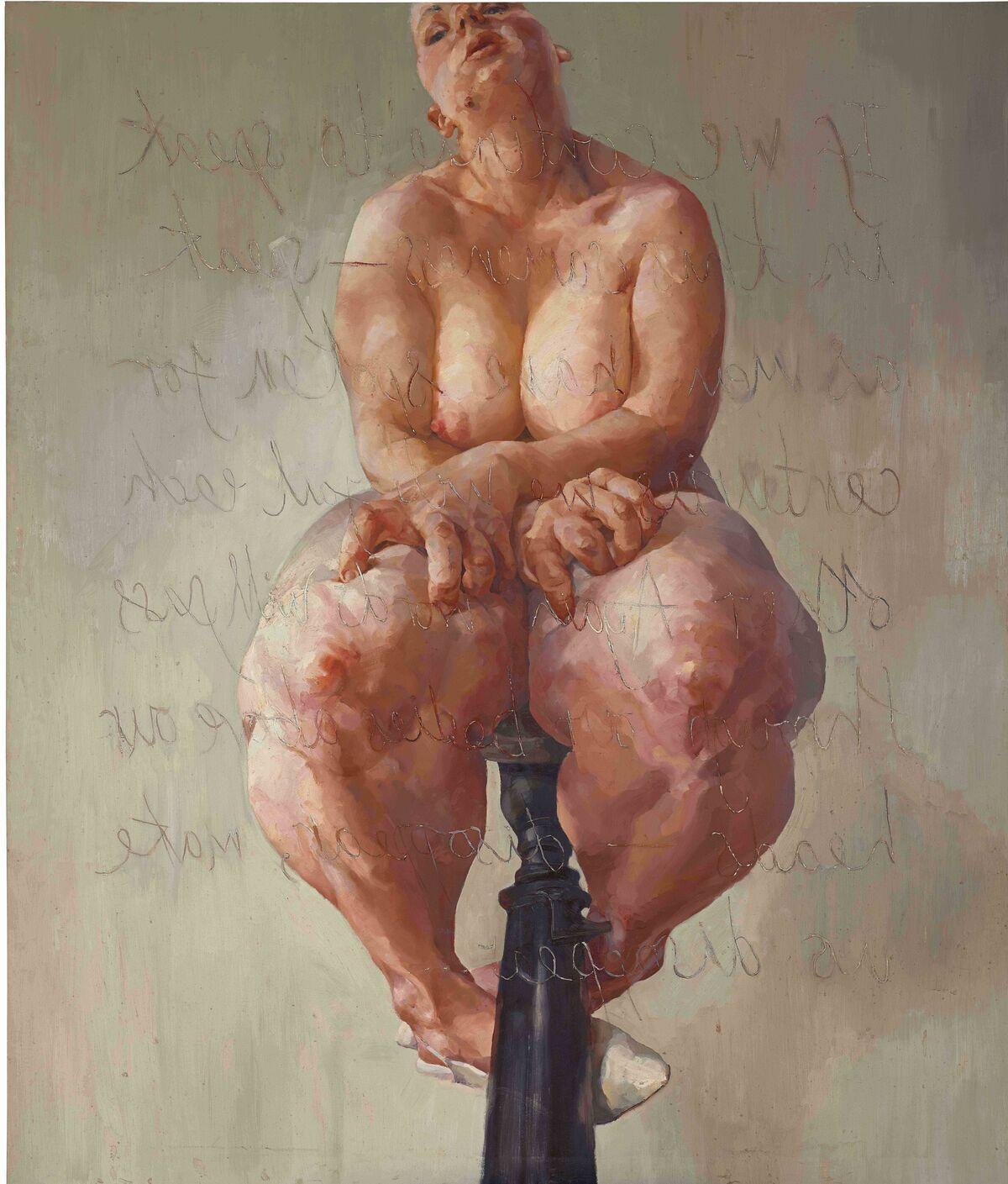 Jenny Saville, Propped, 1992. Courtesy of Sotheby's.