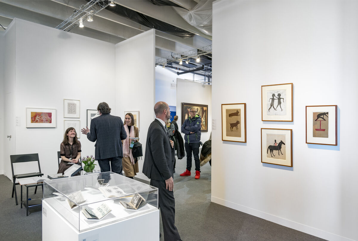 Installation view of Fleisher Ollman's booth at The Armory Show, 2016. Photo by Adam Reich for Artsy.