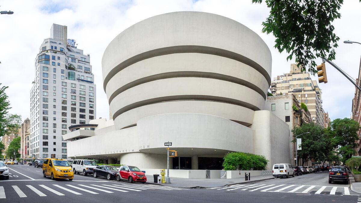 The Solomon R. Guggenheim Museum in New York. Photo by Ajay Suresh, via Wikimedia Commons.