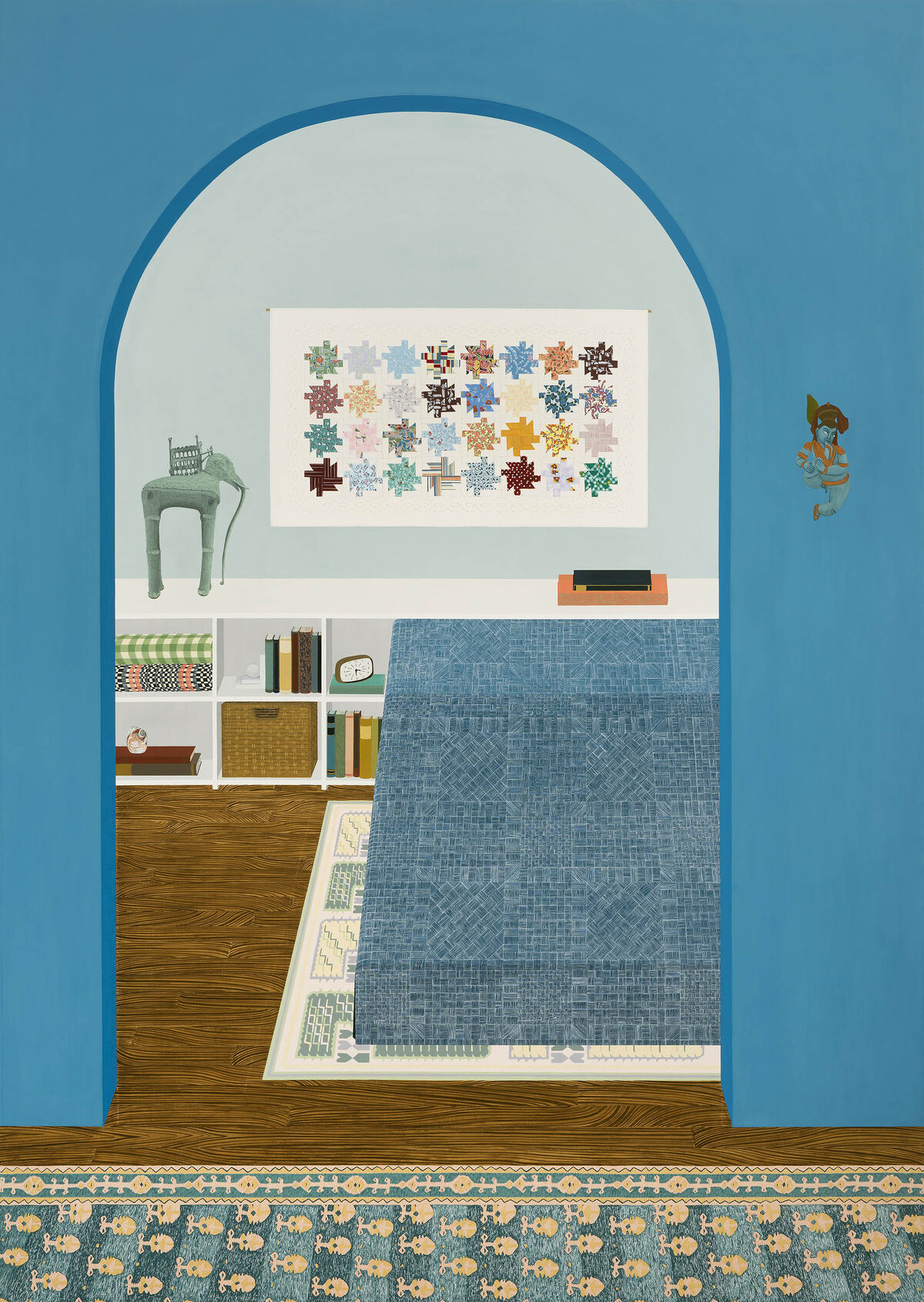 Becky Suss, Blue Apartment, 2016. ©Becky Suss. Courtesy of the artist and Jack Shainman Gallery.