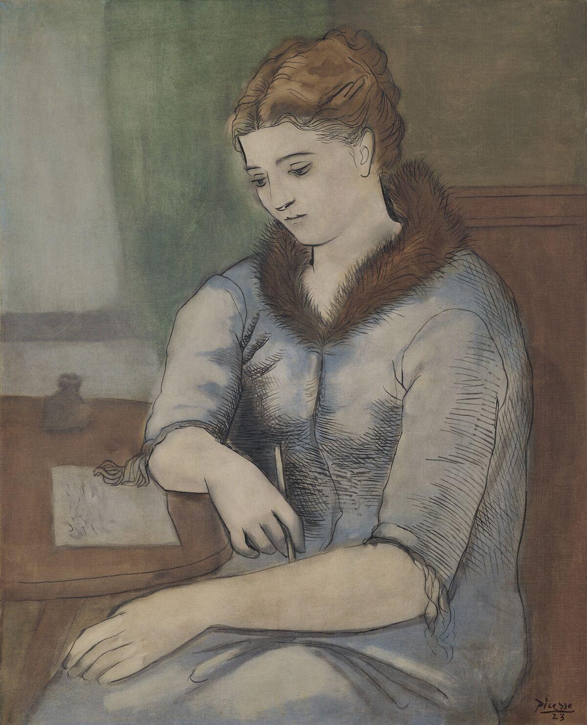 Pablo Picasso, Le Lettre (La Reponse), 1923. Est. on request. Courtesy Christie's.