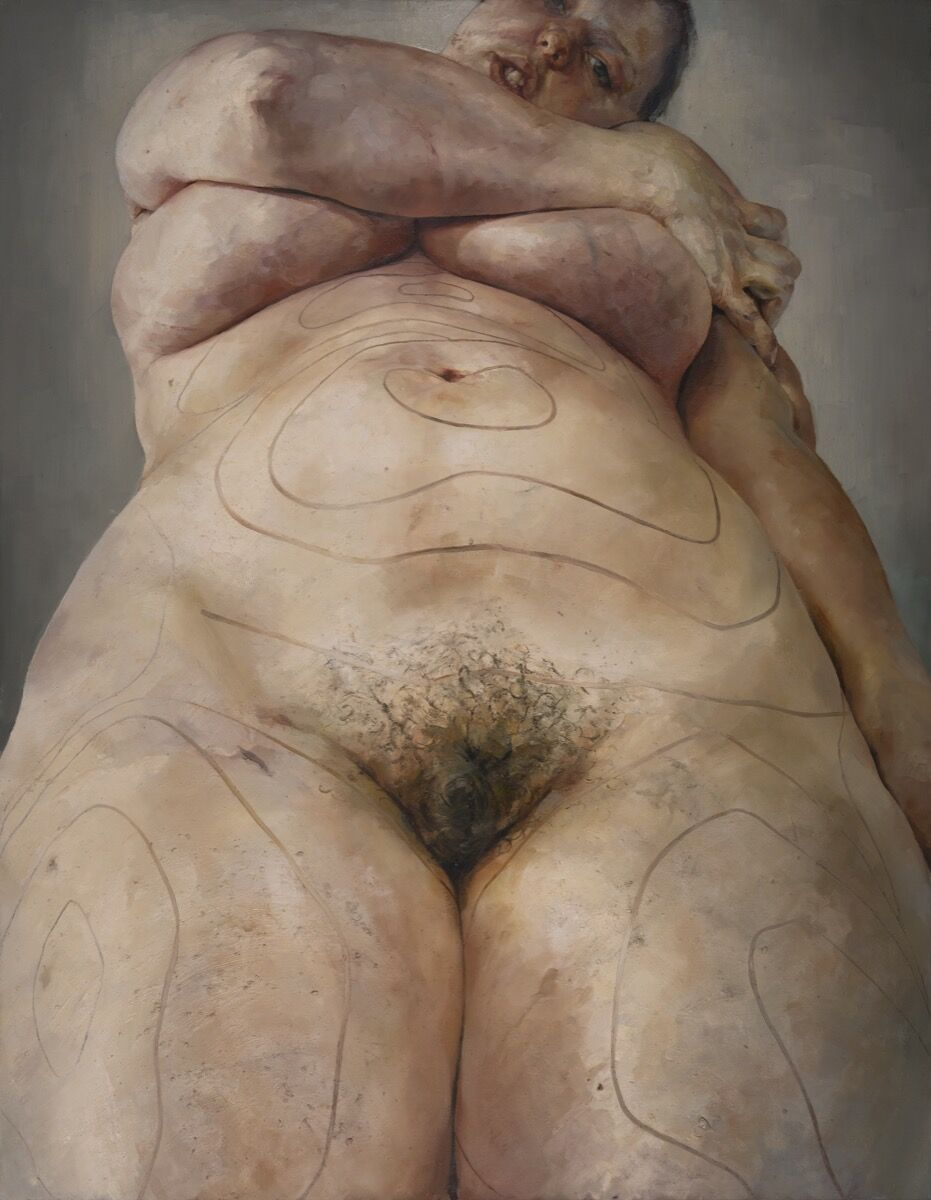 Jenny Saville, Plan, 1993. © Jenny Saville All Rights Reserved, DACS 2019. Courtesy of the artist and The Israel Museum, Jerusalem.