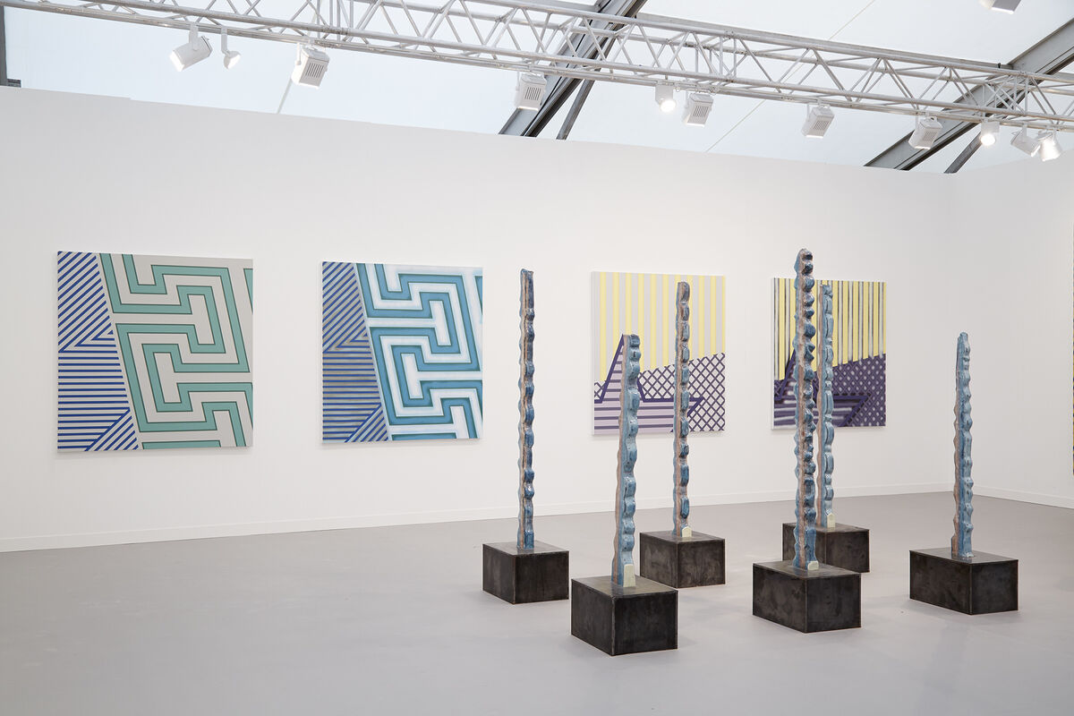 Installation view of Almine Rech's booth atFrieze London, 2015. Photo by Benjamin Westoby for Artsy.