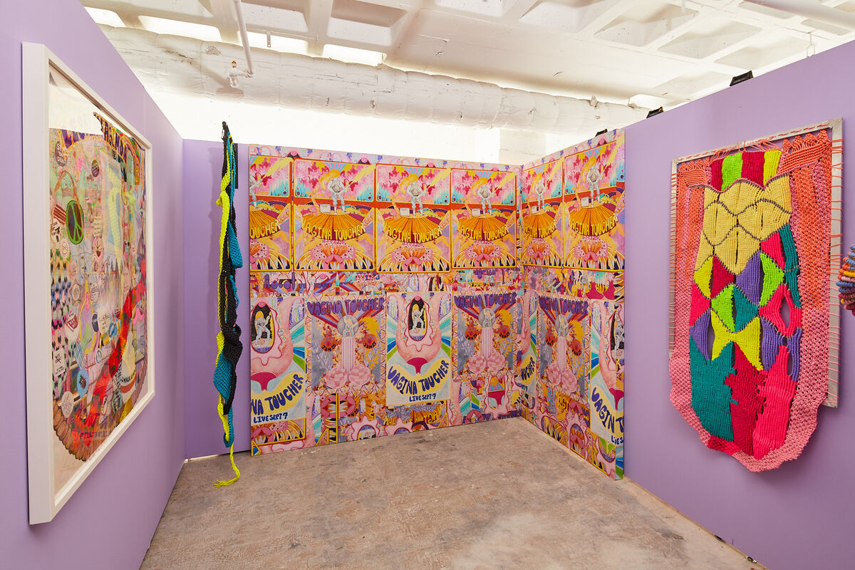 Installation view of Jesse Harrod curated by Danny Orendorff at Spring/Break, New York, 2019. Photo by Samuel Morgan Photography. Courtesy of Spring/Break.