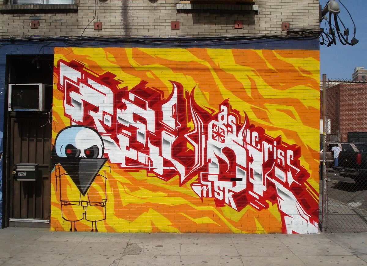 Graffiti art by REVOK, Los Angeles, 2008. Photo by A Syn, via Flickr.