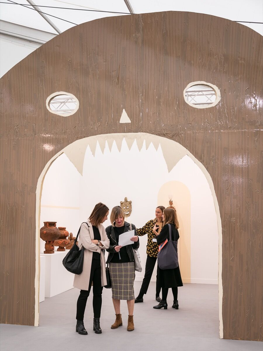 Installation view of Emalin's booth at Frieze London, 2017. Photo by Mark Blower. Courtesy of Mark Blower/Frieze.