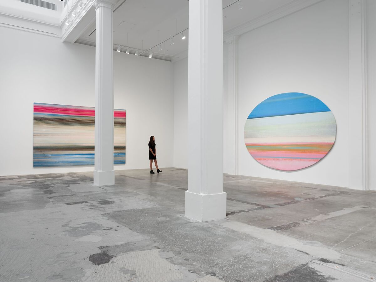 """Installation view, """"Ed Clark. Expanding the Image,"""" Hauser & Wirth Los Angeles, 2020. © The Estate of Ed Clark. Photo Fredrik Nilsen. Courtesy the Estate and Hauser & Wirth."""