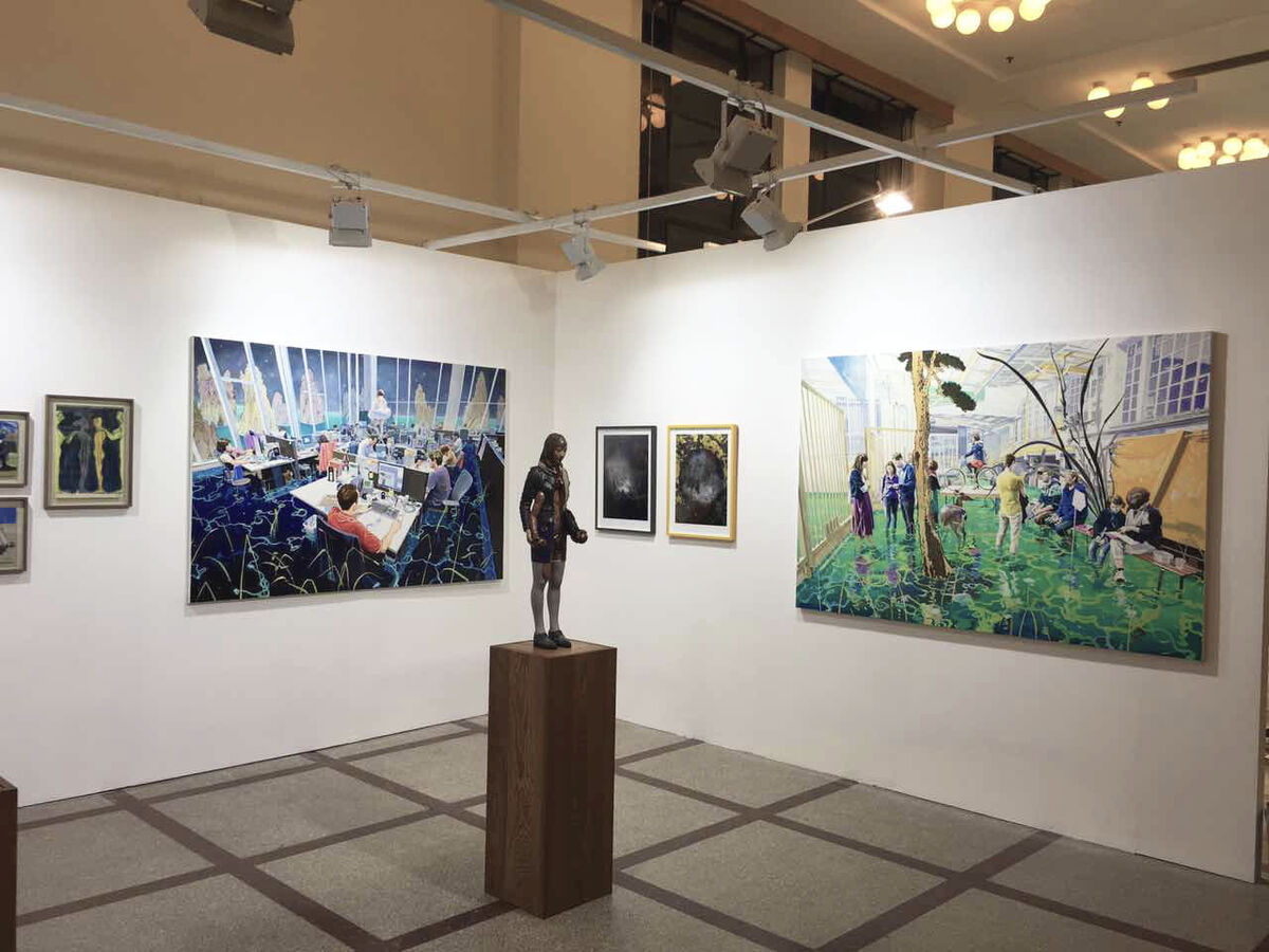 Installation view of Christine Park Gallery's booth at ART021, 2016. Photo courtesy of Christine Park Gallery.
