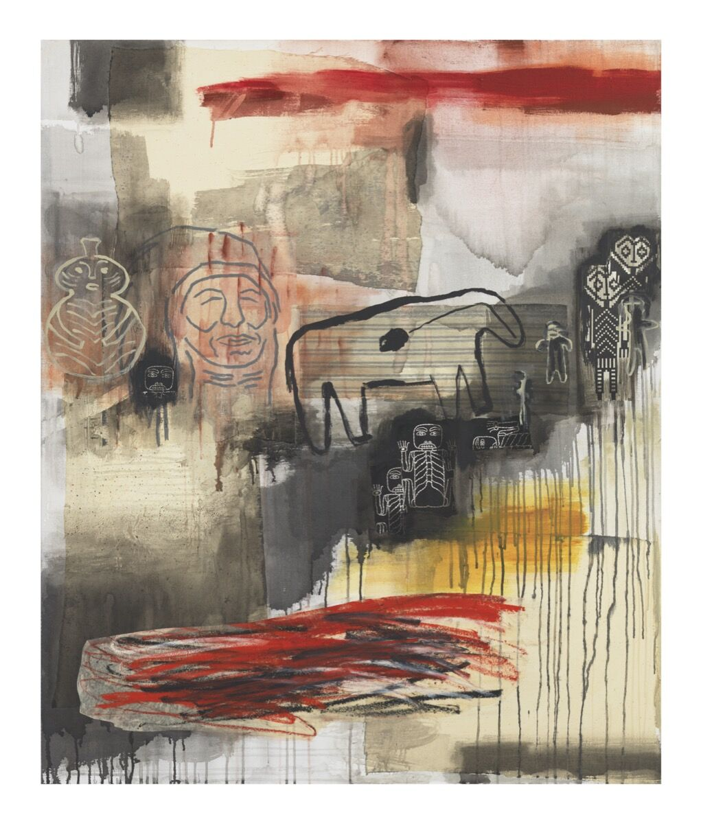 Jaune Quick-to-See Smith, I See Red: Migration, 1995. Courtesy of the artist and Garth Greenan Gallery, New York.