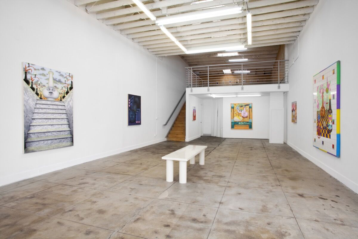 """Installation view of """"I Come to the Garden Alone"""" at Ochi Projects. Courtesy of Ochi Projects."""