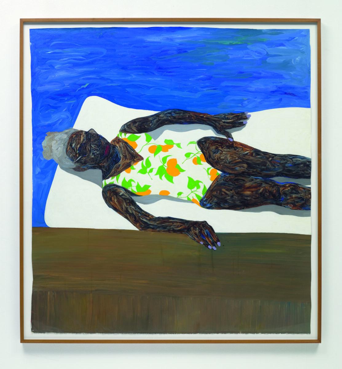 Amoako Boafo, The Lemon Bathing Suit, 2019. Courtesy of Phillips.