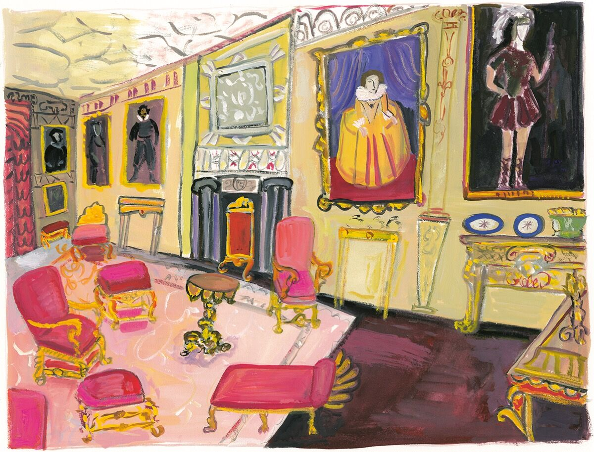 """Maira Kalman,  Knole,  from  """" The Autobiography of Alice B Toklas,"""" 2019. Courtesy of Julie Saul Projects, New York."""