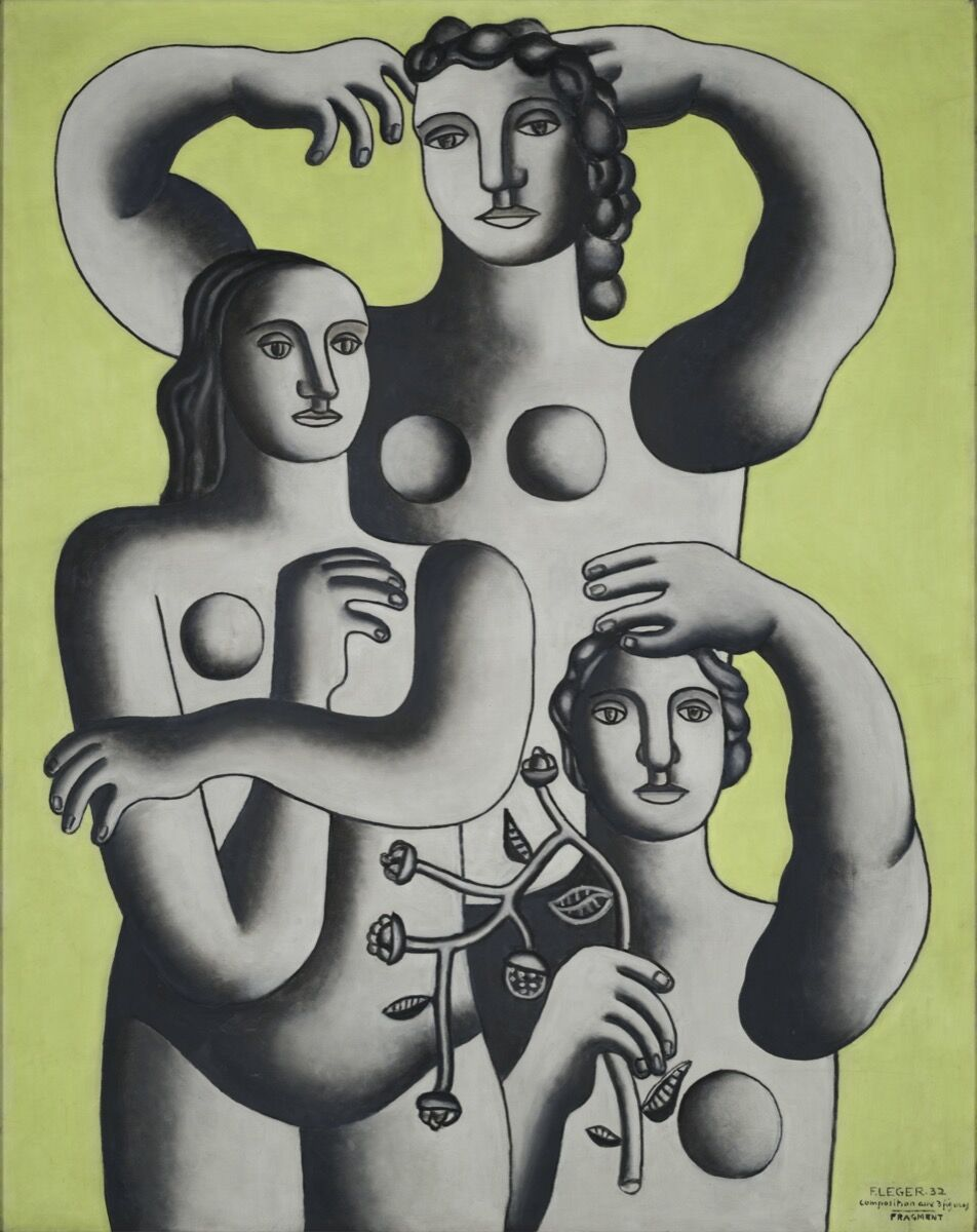 Fernand Léger, Composition with Three Figures— Fragment, 1932. Oil on canvas. Photograph © 2019 Carnegie Museum of Art, Pittsburgh. © 2019 Artists Rights Society (ARS), New York / ADAGP, Paris. Courtesy of Carnegie Museum of Art, Pittsburgh and the Barnes Foundation, Philadelphia.