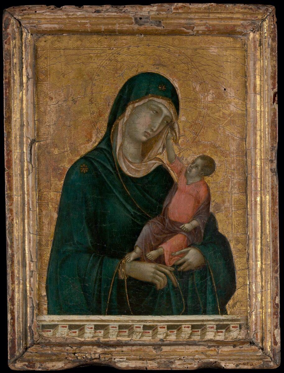 Duccio di Buoninsegna, Madonna and Child, ca. 1290–1300. Courtesy of the Metropolitan Museum of Art.