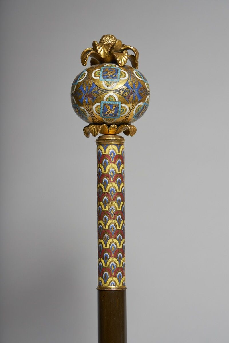 An enamelled orb from the Shrine of Saint Ursula, c. 1170. Courtesy of Luhring Augustine and Sam Fogg.