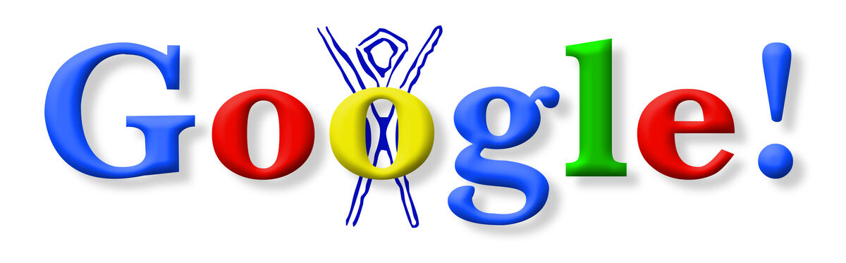 Google Doodle, Burning Man Festival, 1998. Courtesy of Google.