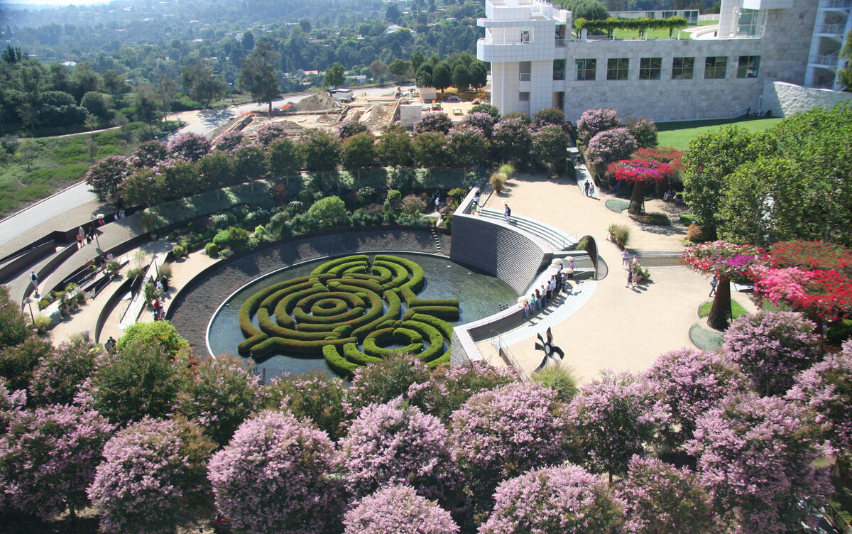 Central Gardens at the Getty Center, 2006. Photo by brewbooks via Flickr.