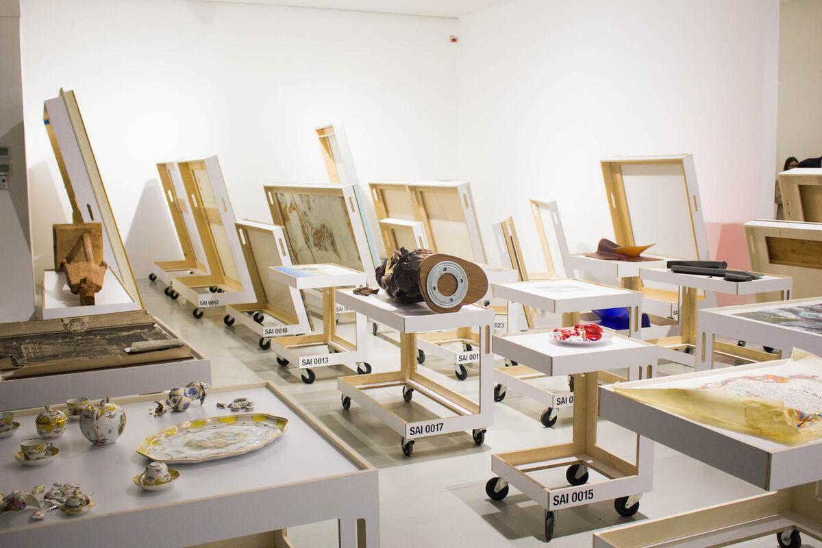 "Installation view of  ""No Longer Art: Salvage Art Institute""at  Museo  de Arte de Zapopan, Mexico, 2018. Courtesy of SAI."
