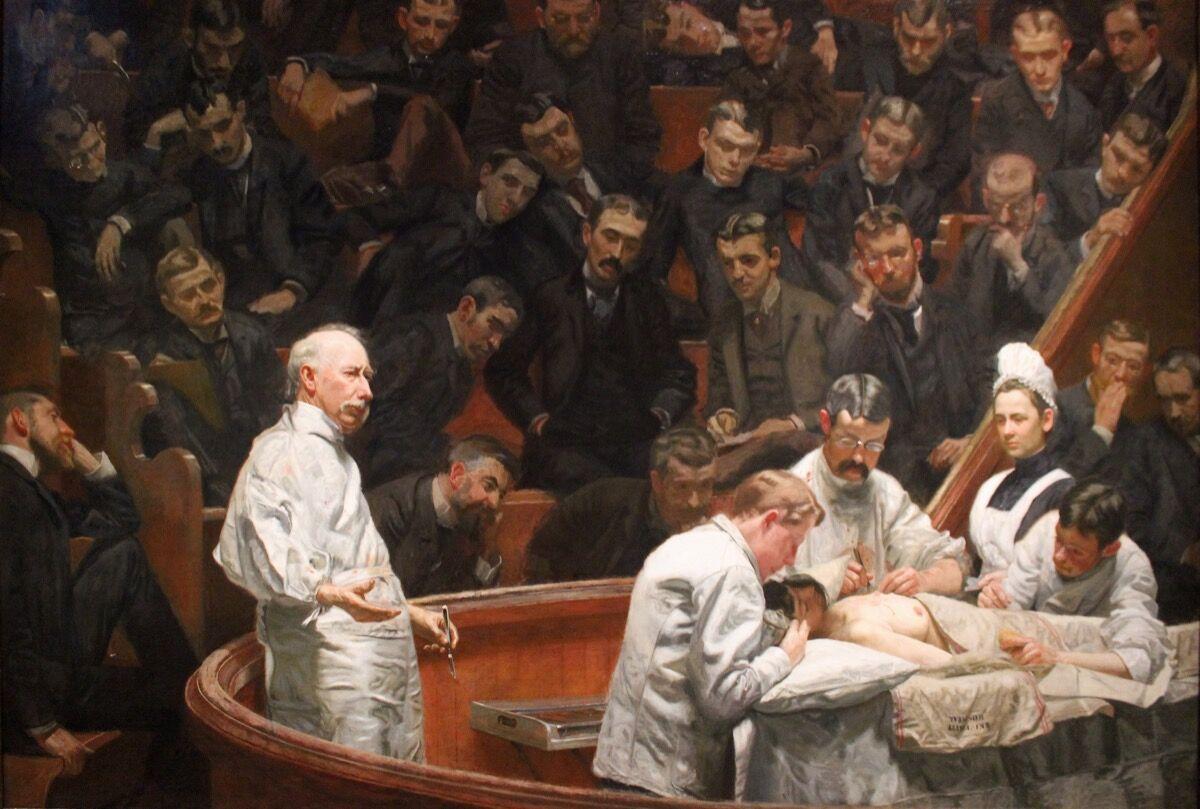 Thomas Eakins, The Agnew Clinic, 1889. Imagen vía Wikimedia Commons.