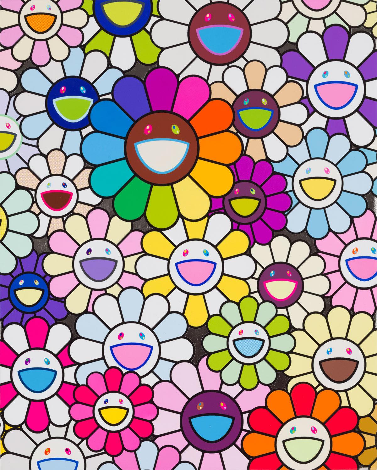 Takashi Murakami, Field of Flowers, 2019. ©︎  Takashi Murakami/Kaikai Kiki Co., Ltd. All Rights Reserved. Courtesy of Gagosian.