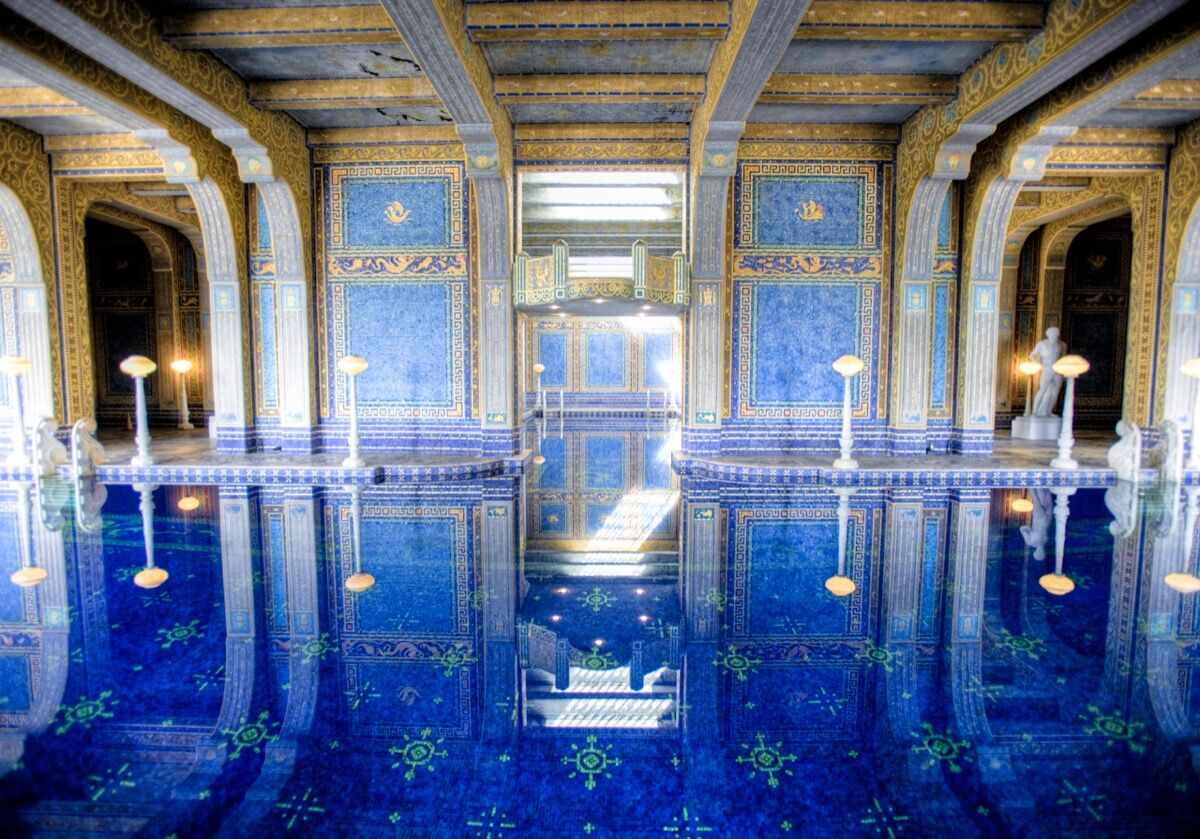 Hearst Castle Indoor Pool. Photo by Andrew Wong, via Flickr.