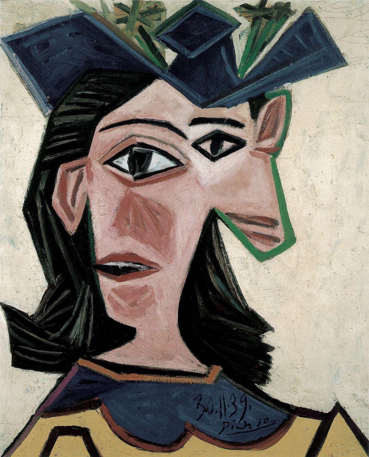 Pablo Picasso, Buste de femme au chapeau (Dora), 1939. Fondation Beyeler, Riehen/Basel, Sammlung Beyeler. © Succession Picasso / 2019, ProLitteris, Zürich. Photo by Peter Schibli.