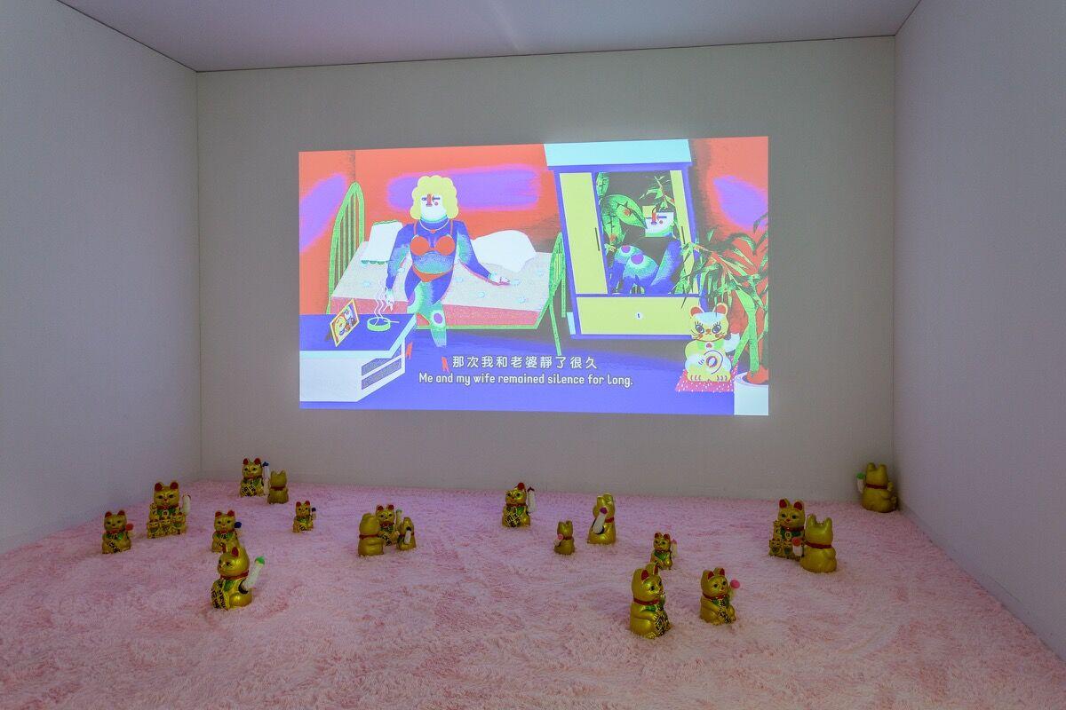 Installation view of Edouard Malingue's booth at Art Basel in Miami Beach, 2016. Photo by Alain Almiñana for Artsy.