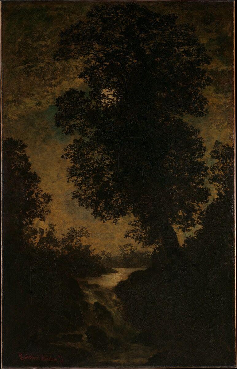 Ralph Albert Blakelock, A Waterfall, Moonlight, 1886. Courtesy of The Metropolitan Museum of Art.