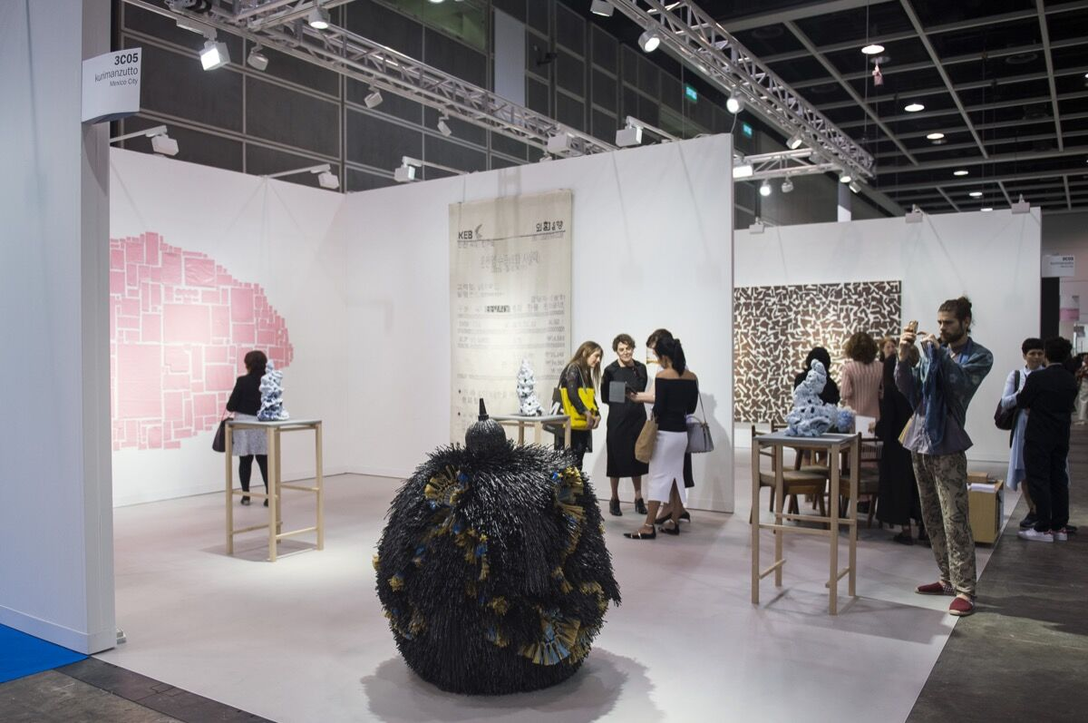 Installation view of kurimanzutto's booth at Art Basel in Hong Kong, 2017. Courtesy of Art Basel in Hong Kong.