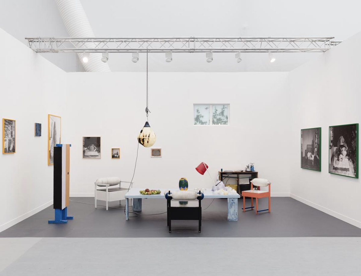 Installation view of Southard Reid's booth at Frieze London, 2017. Image by @southard_reid via Instagram.