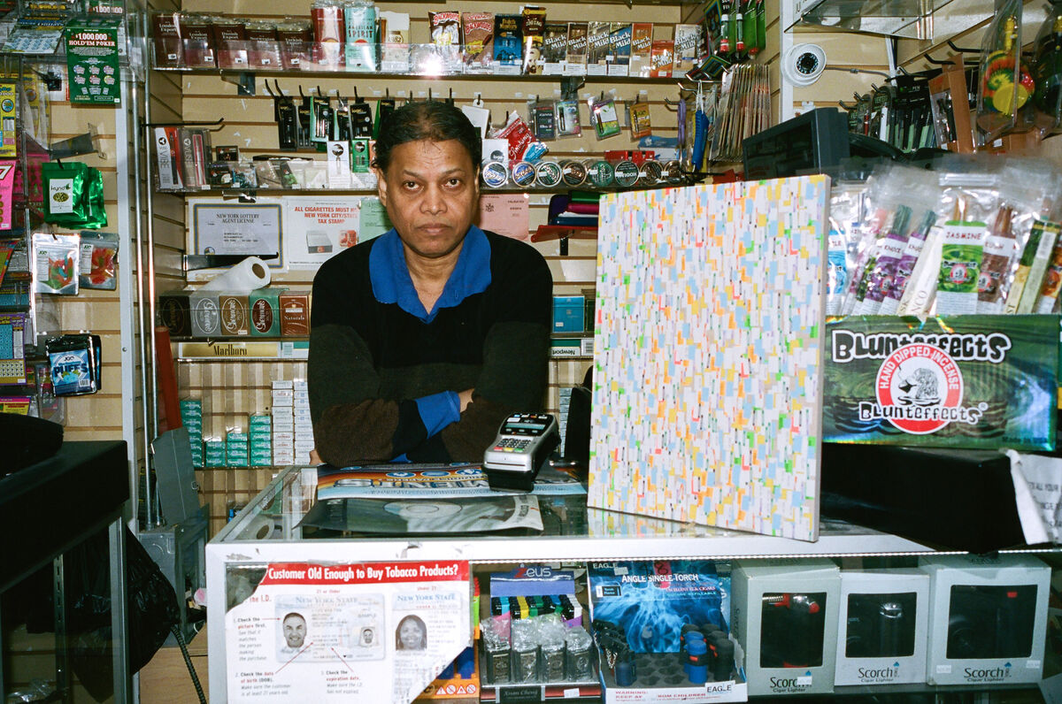 """Promotional image for Neil Hamamoto's """"The Bodega Paintings."""" Photo by Sean Andrew Jackson. Courtesy of the artist."""