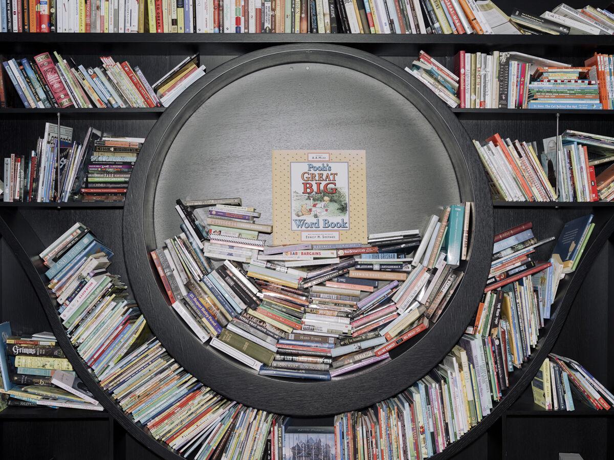Martellus Bennett's shelf of 2,500+ books. Photo by Whitten Sabbatini for Artsy.