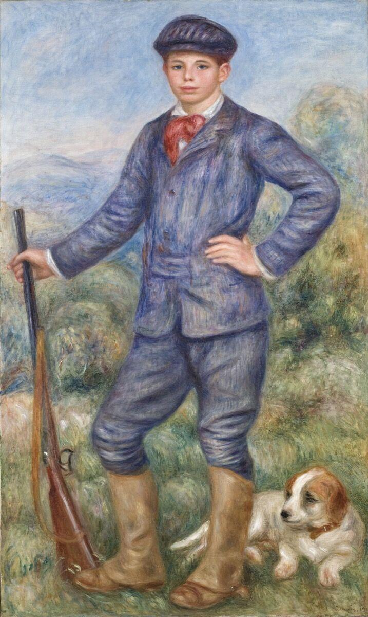 Pierre-Auguste Renoir, Jean as a Huntsman (Jean en chasseur), 1910. Courtesy of the Los Angeles County Museum of Art, Los Angeles.