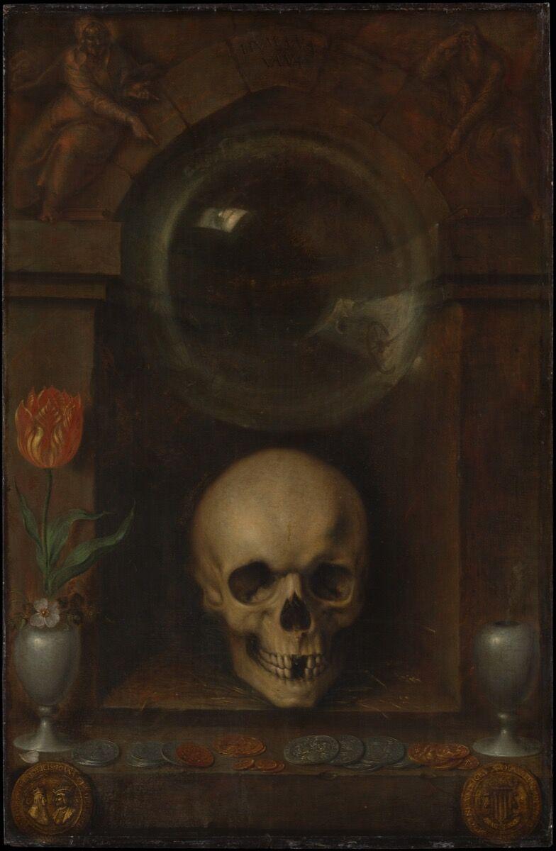 Jacques de Gheyn el Joven, Vanitas Still Life, 1603. Cortesía del Museo Metropolitano de Arte.