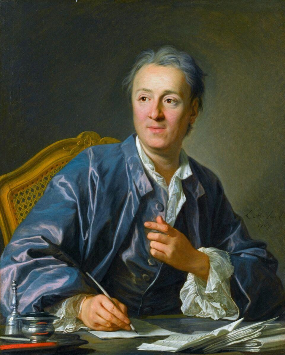 Louis-Michel van Loo, Portrait of Denis Diderot, 1767. Photo via Wikimedia Commons.