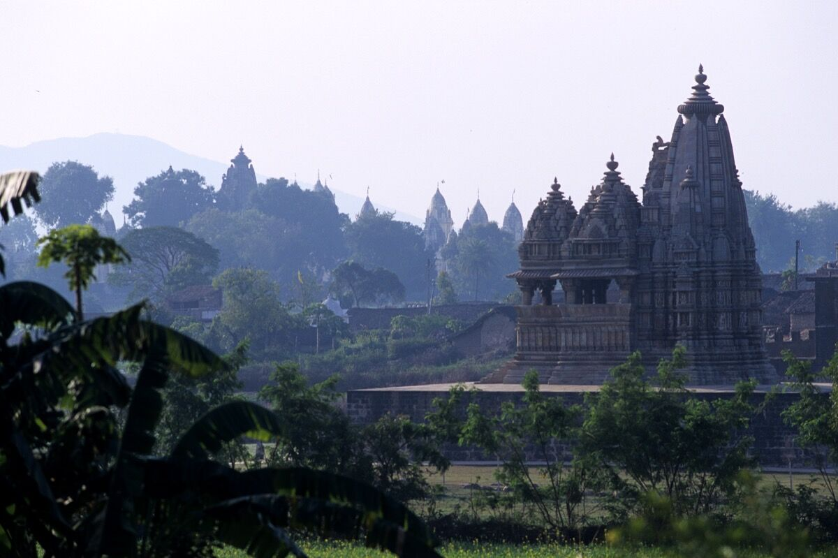 View of the Khajuraho Temples. Photo by Frédéric Soltan/Corbis via Getty Images.