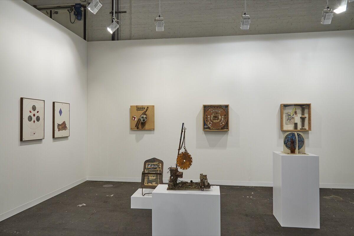 Installation view of Moran Bondaroff's booth at Art Basel, 2016. Photo by Benjamin Westoby for Artsy.
