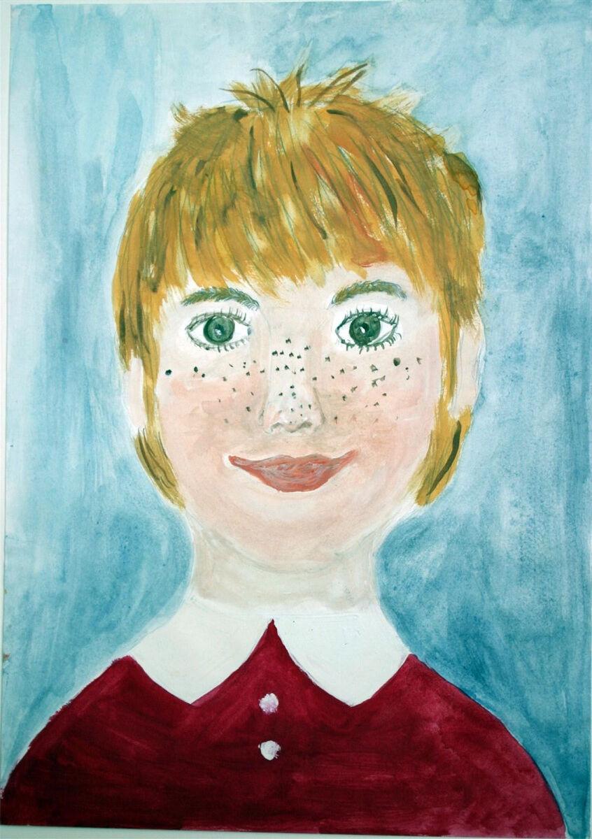 Verena Diethelm, age 11, Austria, Self Portrait. Courtesy of Children's Museum of the Arts.