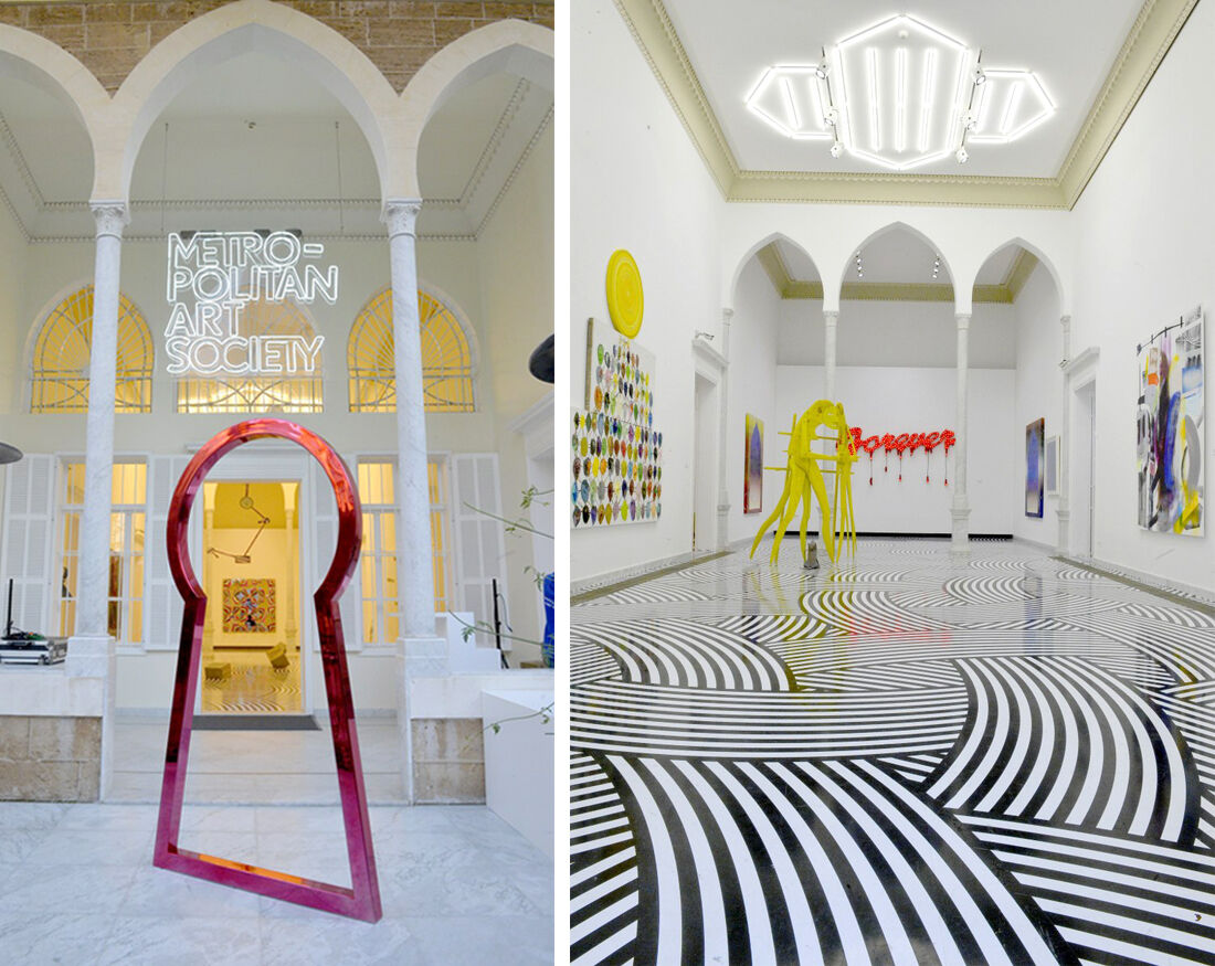 Exterior and interior views of Metropolitan Art Society. CourtesyMetropolitan Art Society.
