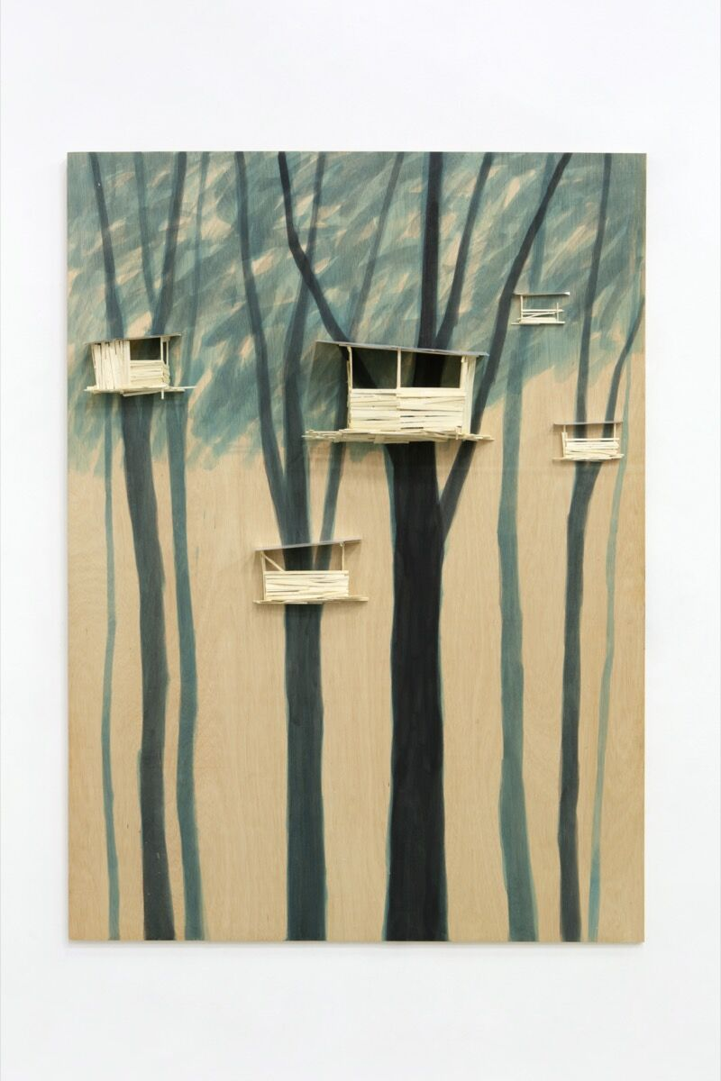 Tadashi Kawamata, Tree hut in Tremblay n°54, 2020. © Tadashi Kawamata. Photo by archives kamel mennour. Courtesy of the artist and kamel mennour, Paris/London.