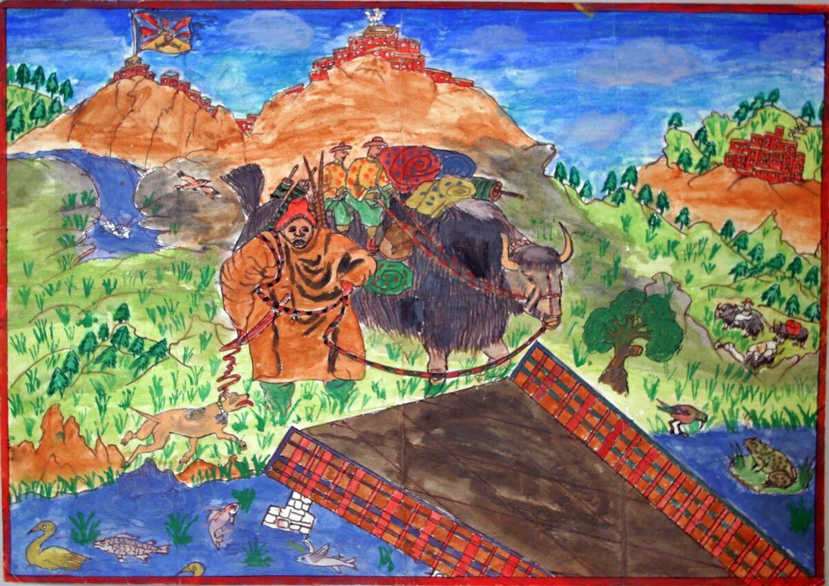Migmar Dorjee, age 11, India, The Tibetan Yak. Courtesy of Children's Museum of the Arts.