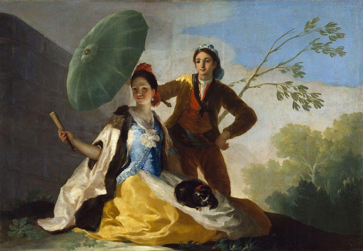 Francisco de Goya, The Parasol, 1777. Museo del Prado, Madrid. Photo via Wikimedia Commons.