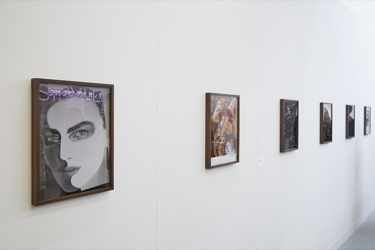 Installation view of work by Kulisek / Lieske at VI, VII's booth at LISTE, 2016. Photo by Benjamin Westoby for Artsy.
