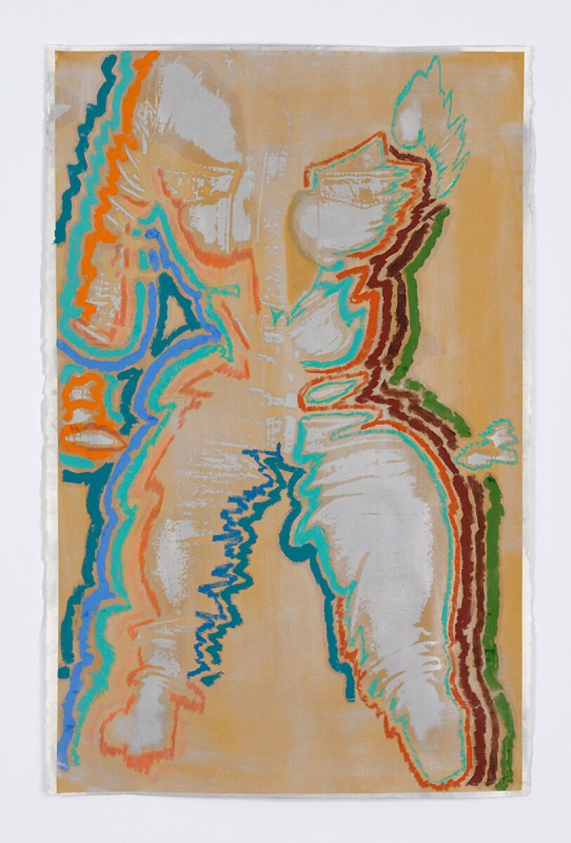 Keltie Ferris, to be titled, 2017. Courtesy of Mitchell-Innes & Nash.