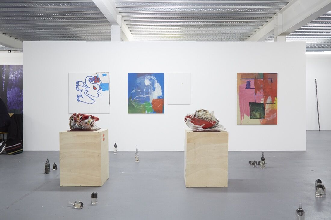 Galerie Joseph Tang's booth atSUNDAY Art Fair, 2015. Photo by Benjamin Westoby for Artsy.