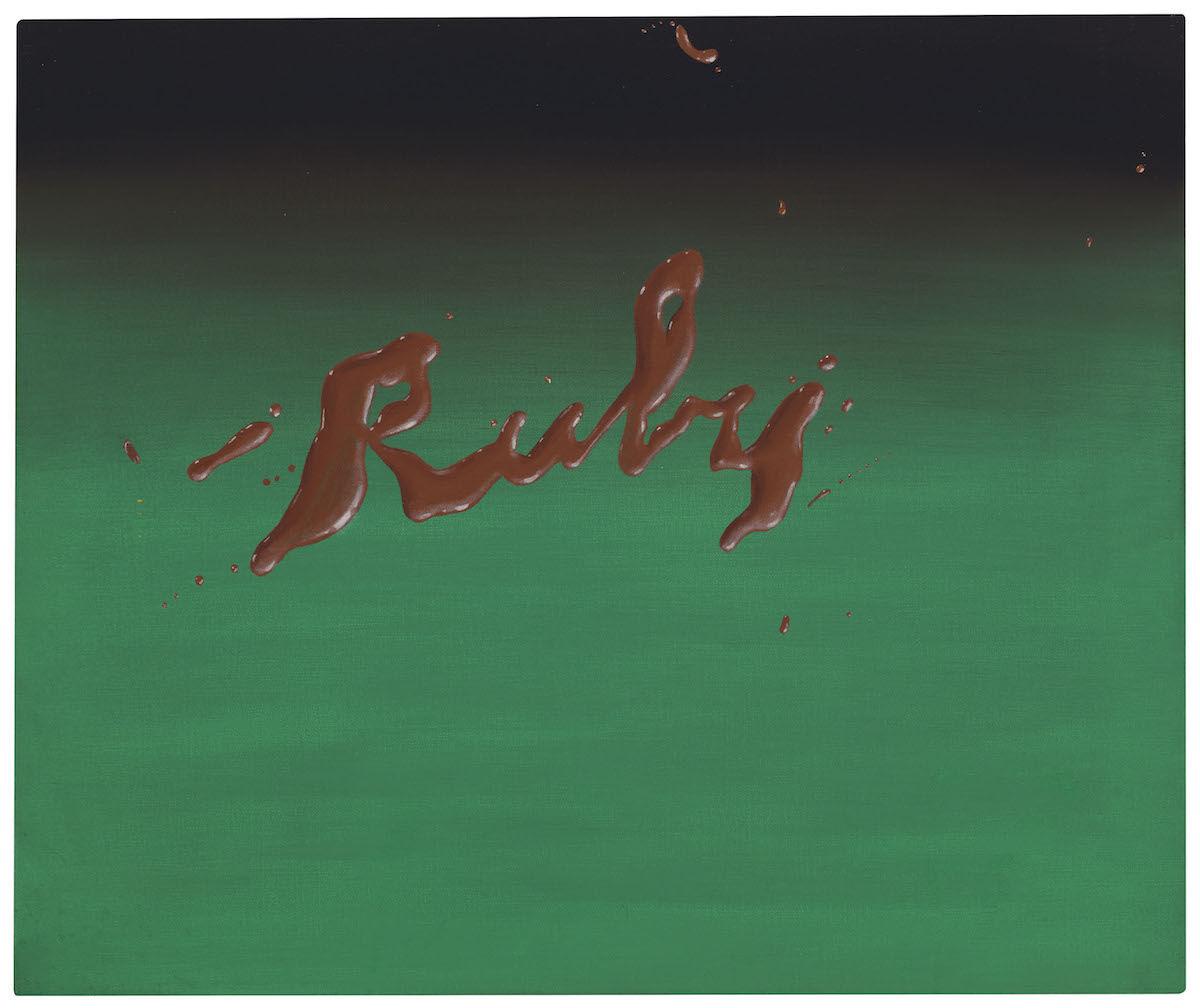 Ed Ruscha, Ruby, 1968. Est. $2–3 million. Courtesy Christie's Images Ltd.