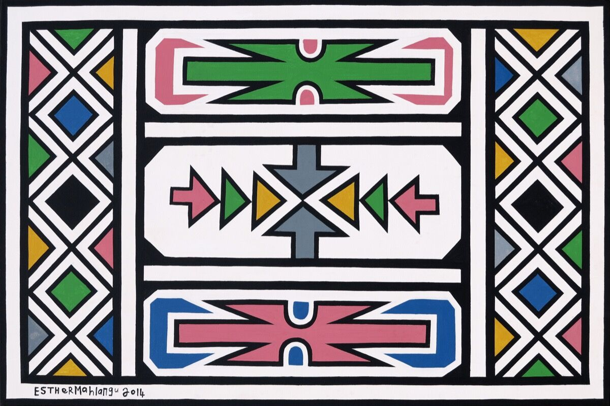 Esther Mahlangu, Abstract, 2014. Image courtesy of 34FineArt.